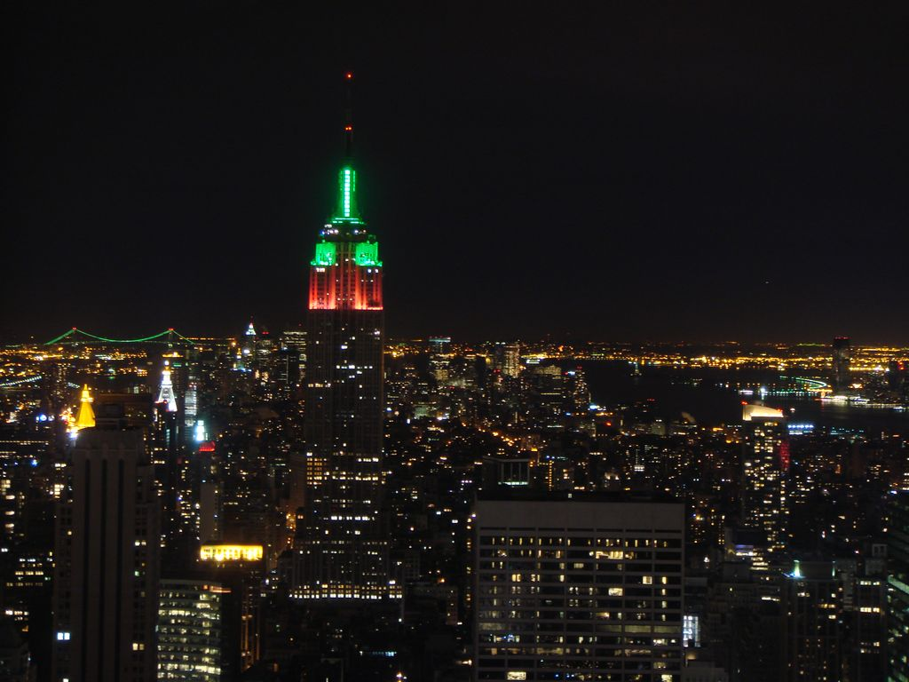 Empire State Building viewed from Rockefeller Center