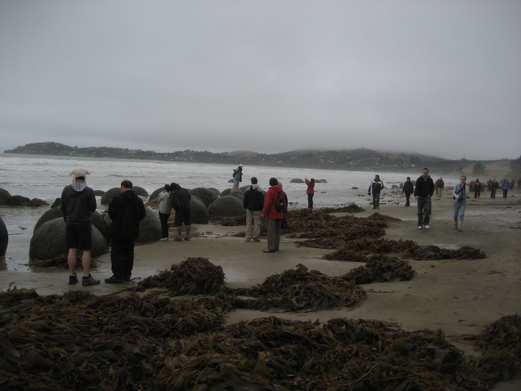 Moeraki Boulders Tourists
